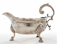 Myer Myers (New York) silver sauce boat, from the estate collection of Buryl and Nelwyn Kay, McLean, VA