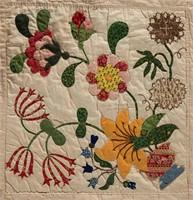 Detail of Maryland album / friendship quilt