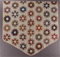 Vibrant mid-19th century Massachusetts appliqued album / friendship quilt