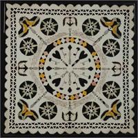 Very fine York Co., PA mid-19th century folk art cut-work / scherenschnitte valentine