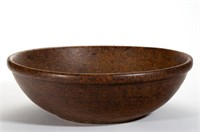 """Early 19th-century burl bowl with excellent surface, 16"""" D"""