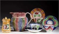 Collection of spatterware