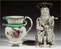 Rare Toby mug and puzzle jug