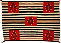 Fine Native American Late Classic Woman's Second Phase Variant Chief's Blanket, from the Vogel collection, ex-Christie's, ex-Marcy Burns American Indian Art