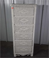 Wicker Lingerie 6 Drawer Chest, nice condition