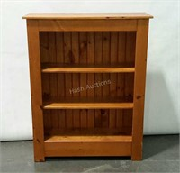 Nice pine country style bookcase with bead board