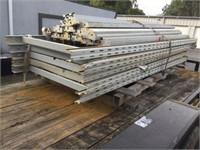 Metal warehouse shelving