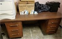 (7) Walnut Finish Desk $30.00 Reserve