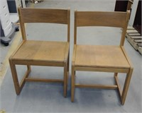 (23A-23C) 4 Solid Wood Chairs  $25.00 Reserve