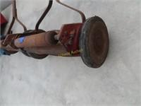 antique reel push mower