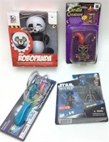 ASSORTED TOYS, NEW, ROBO PANDA, STAR WARS CLONE