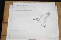 Framed Virginia Waterfowl 1988 Stamps