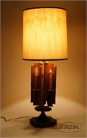 Wood Electric Candle Lamp
