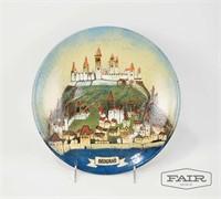 Rucini Rad Enamel Plate of Belgrade