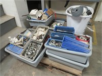 Pallet of Assorted Aerosol Cans, Pipe Fittings, El