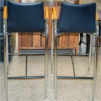 Furniture Pair of Modern Bar Stools