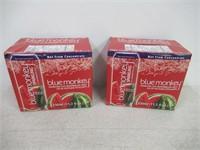 (2) BLUE MONKEY Sparkling Watermelon Juice 6Pk,