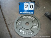 Standard Barbell Online Auction, October 21, 2019   A1021