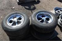(4) Car Tires on Rims