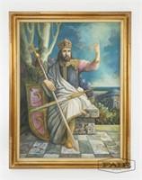 Vojislav Stamenic: Portrait- Czar Stephen Dusan