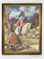Vojislav Stamenic: King Peter I Portrait