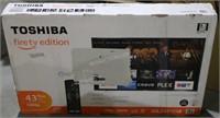 "Toshiba 43"" LED Smart TV-Fire TV Edition NEW $300"