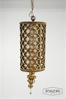 Gold Hanging Swag Lamp