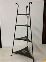 Wrought iron bowl stand
