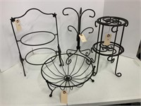 4 wrought iron stands