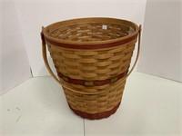 Christmas waste basket.