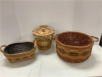 3 Autumn baskets.