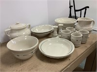 Lot of Heritage Green pottery