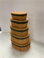 Set of 5 Collectors Club Harmony baskets.