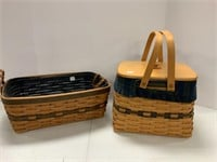 2 Collectors Club baskets and a blanket.