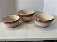 American Craft Originals 3 bowls set.