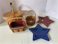3 Americana basket and pottery