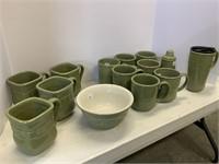 Sage pottery lot