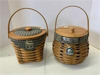 Golf Club basket and Crawford Barn basket.