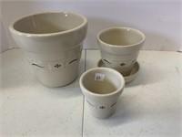 Flower pot basket and 5 flower pots