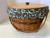 Holiday hostess sleigh bell basket.