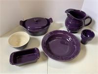 Eggplant pottery lot