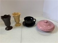 Various colors pottery lot