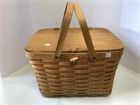 Large picnic basket.