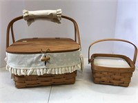 Small picnic basket and medium berry basket.