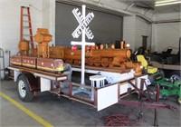 Duane's Trains Wooden Locomotives 1990 12ft