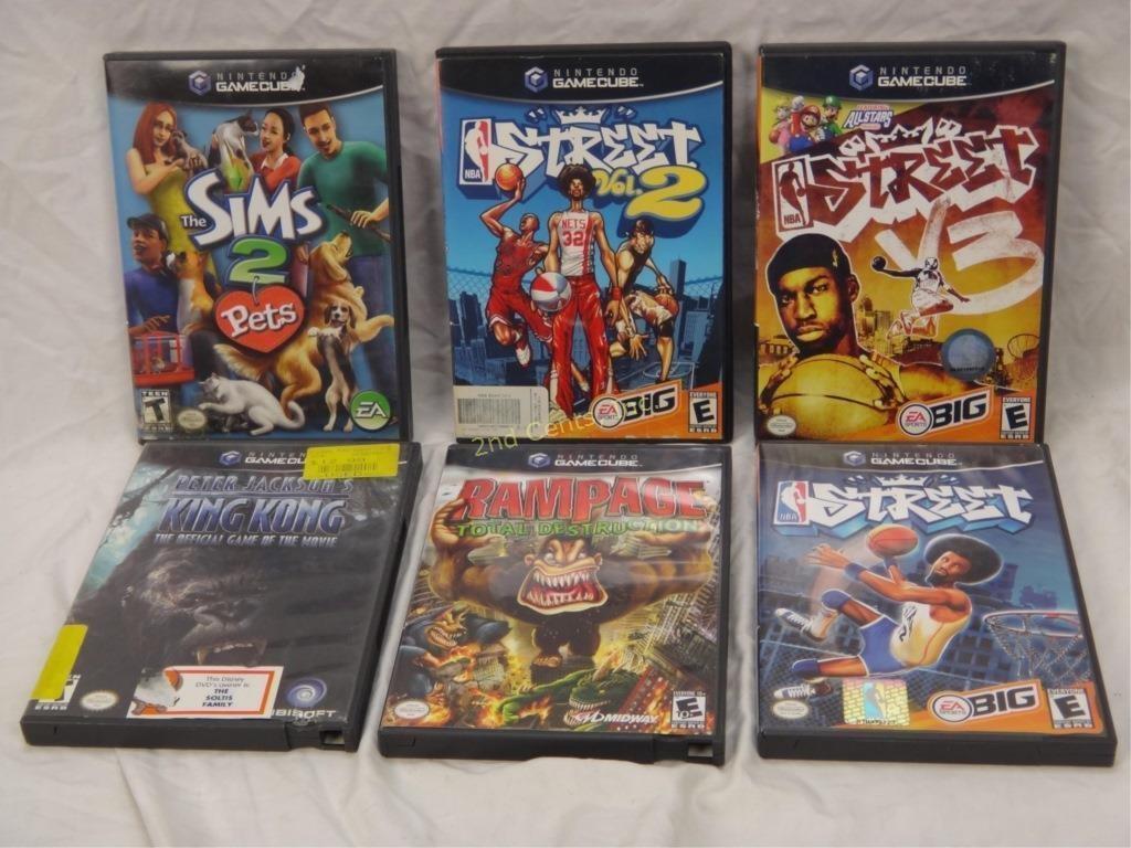 6 Nintendo Gamecube Games Nba Street Rampage 2nd Cents Inc