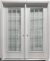 """32"""" WIDE SMOOTH FIBERGLASS DOUBLE DOOR"""