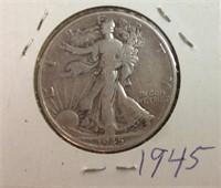 1945 SILVER WALKING LIBERTY HALF DOLLAR