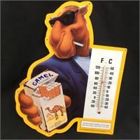 1992 CAMEL JOE THERMOMETER METAL SIGN DISPLAY