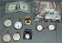 Estate Jewelry, Money and Stones. Lot.
